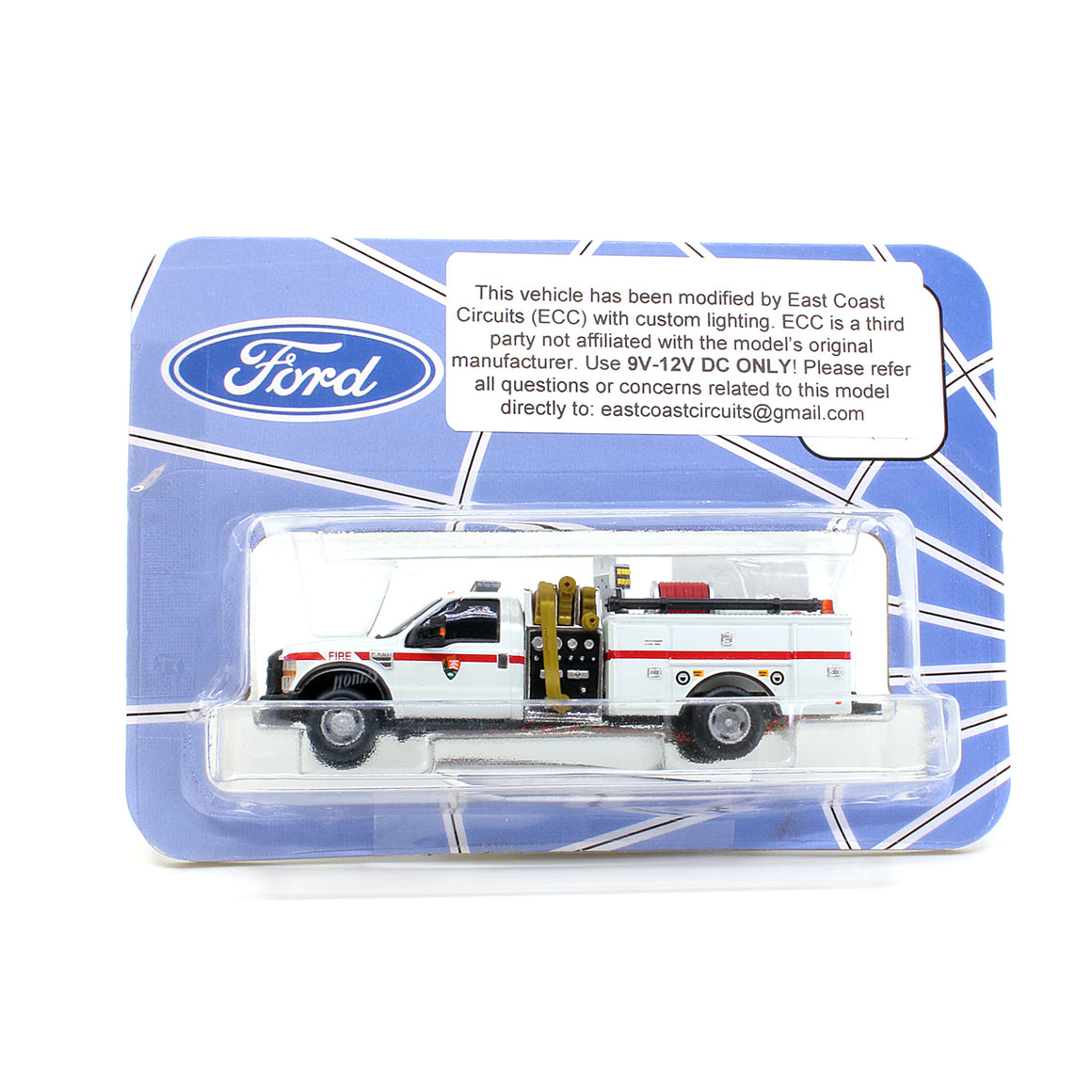 HO Scale: Lighted Ford F-550 - Mini Pumper Fire Truck - National Park Service