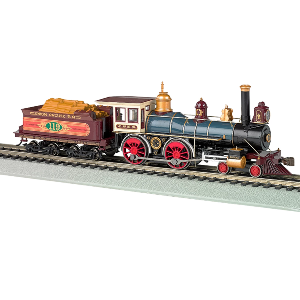 "HO Scale: 4-4-0 Steam Locomotive - DCC-Ready - Union Pacific ""119"""