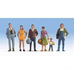 HO Scale: Pedestrians - Set #2 - 6 Pack