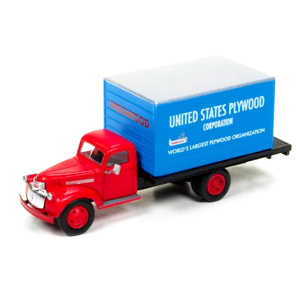 HO Scale: 1941-46 Chevy Box Truck - U.S. Plywood