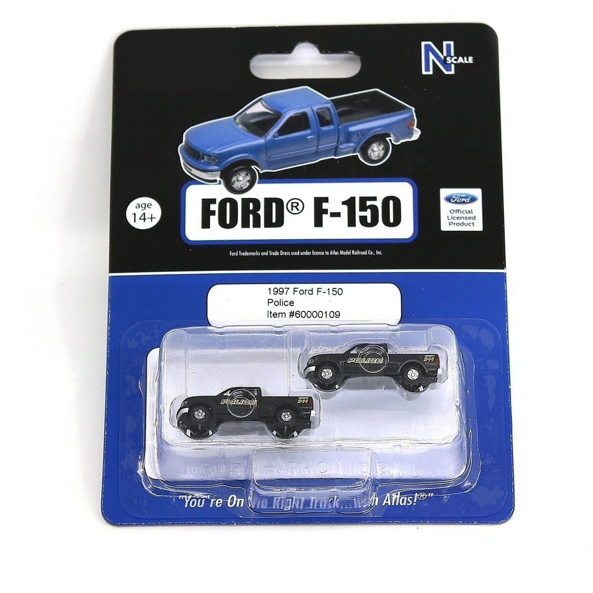 N Scale: Ford F-150 - Police 911 - Two-Pack
