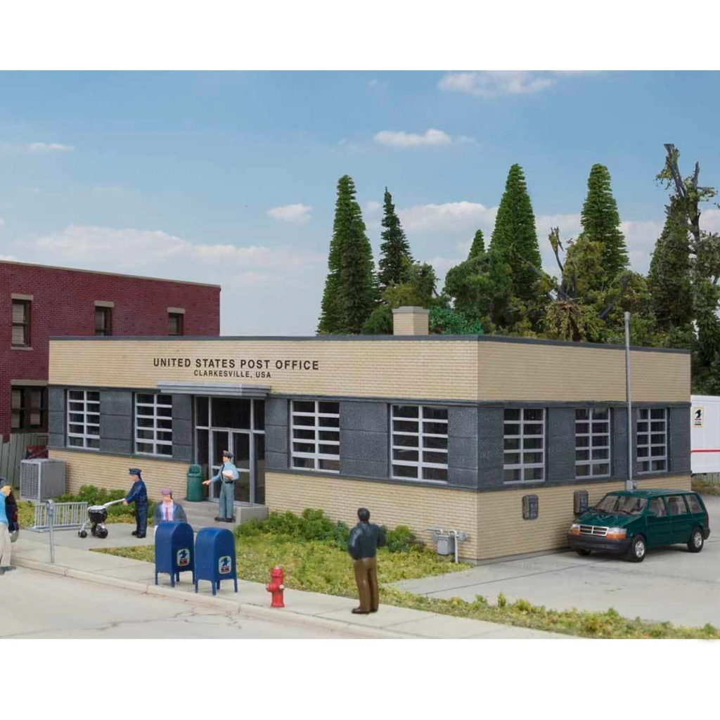 HO Scale: Brick Post Office - Kit
