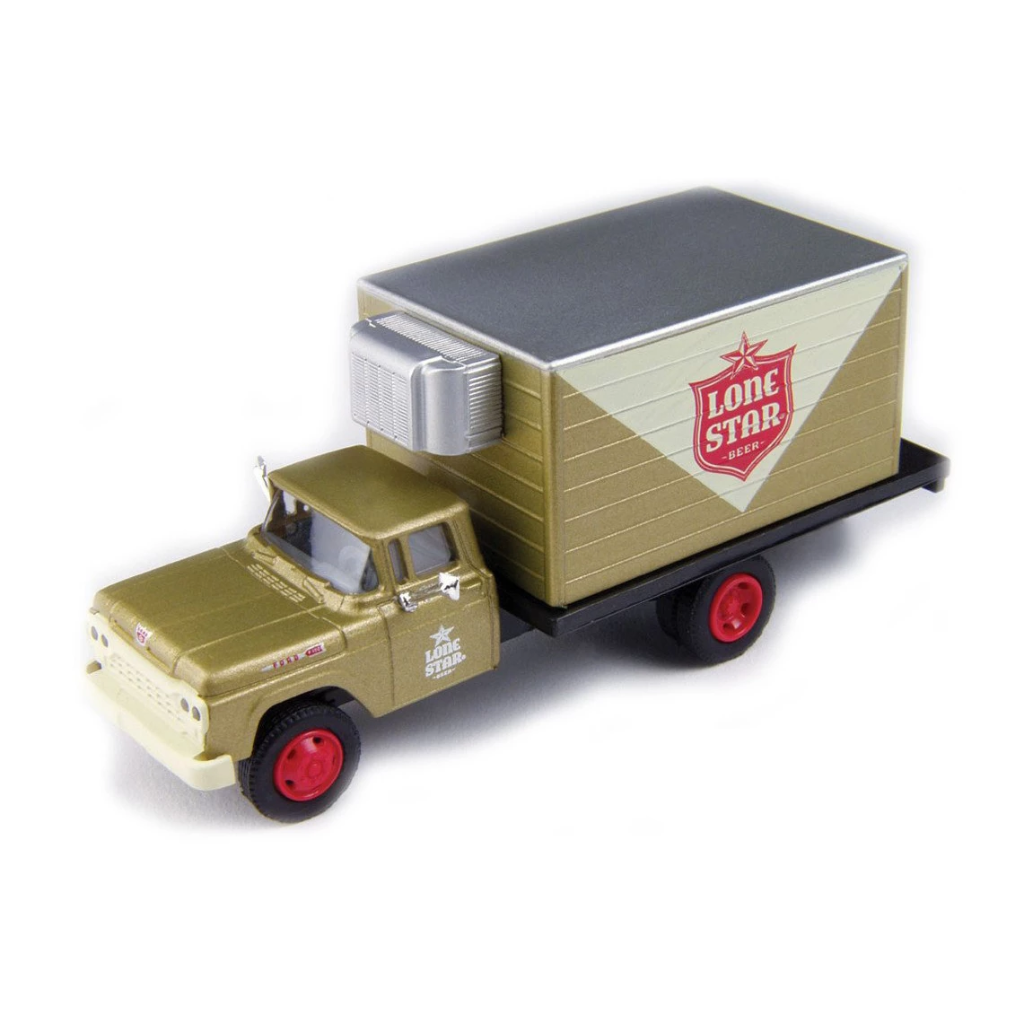 HO Scale: 1960 Ford F-500 Box-Body Delivery Truck - Lone Star Beer