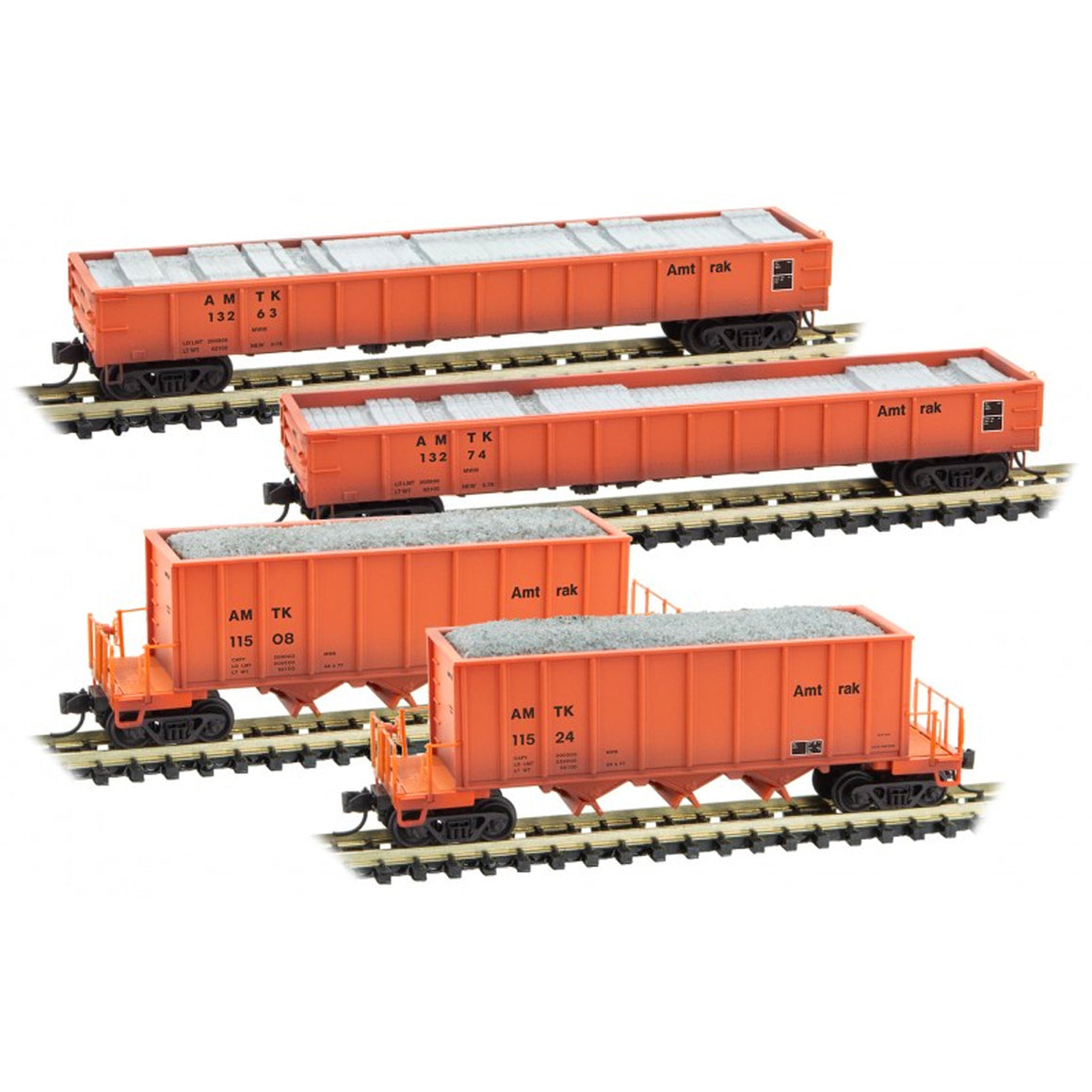 N Scale: Maintenance of Way Runner Pack - Amtrak - 4 Pack