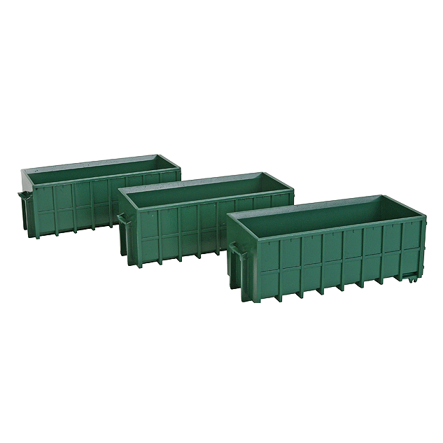 HO Scale: Large Dumpsters - 3 Pack