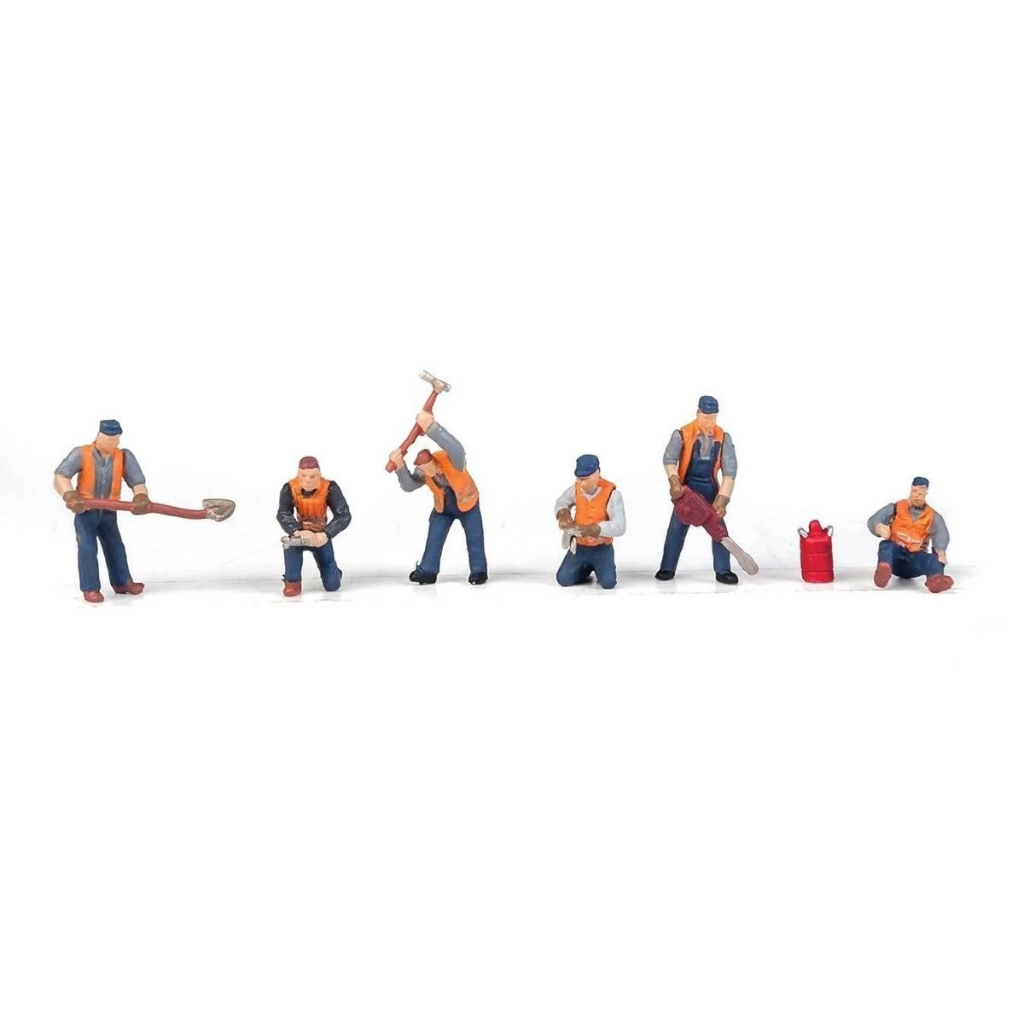 HO Scale: Railroad Track Workers - Set #1 - 6 Pack