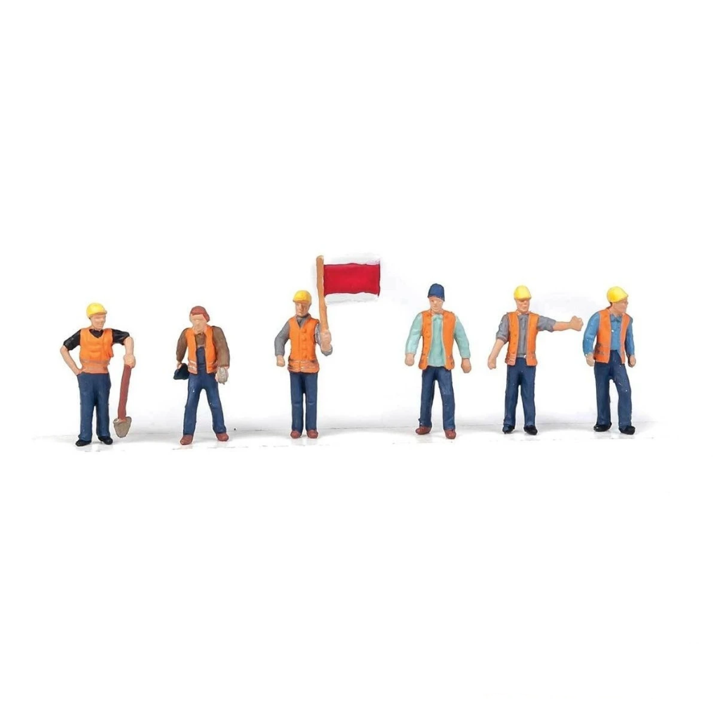 HO Scale: Railroad Track Workers - Set #2 - 6 Pack