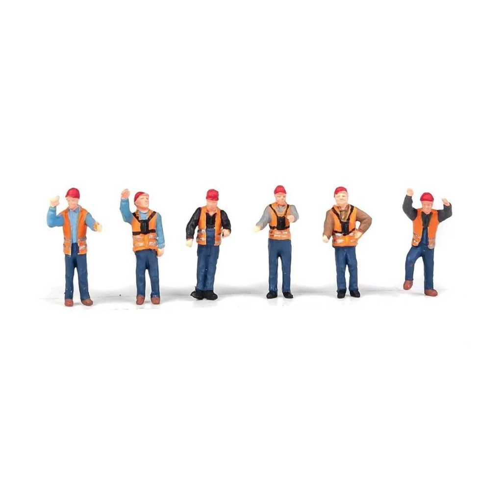 HO Scale: Railroad Yard Crew - 6 Pack