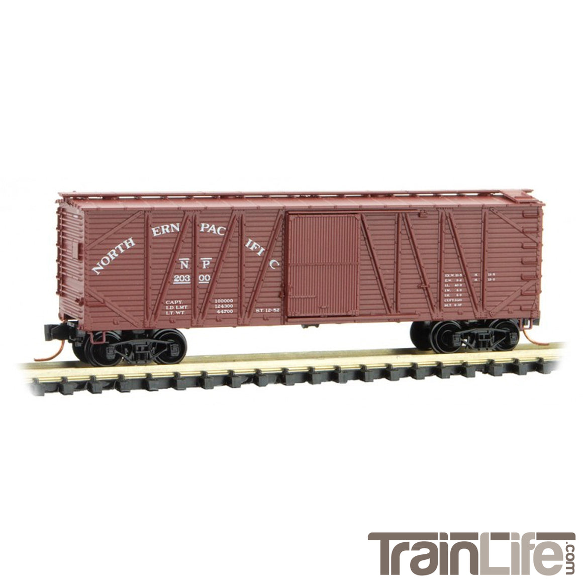 N Scale: 40' Outside-Braced Box Car - Northern Pacific