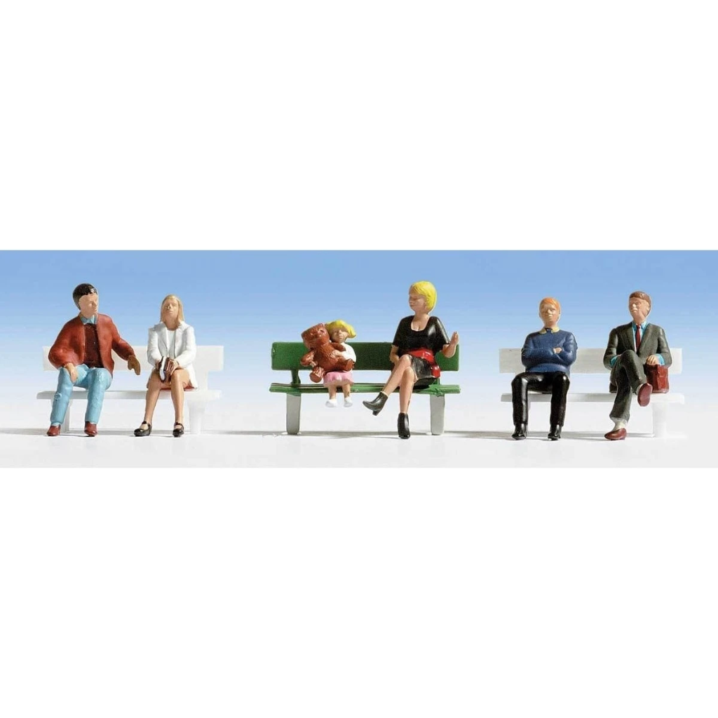 HO Scale: Seated People - Set #1 - 6 Pack