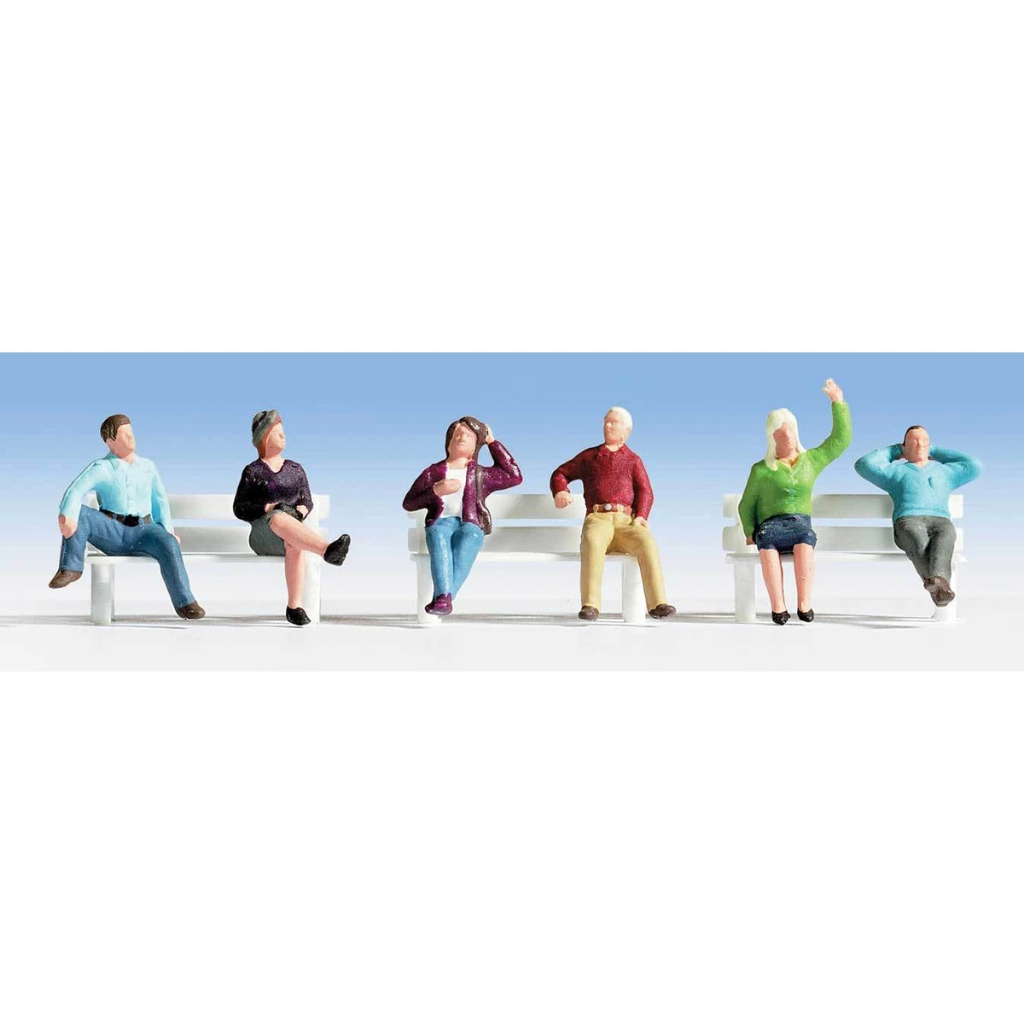 HO Scale: Seated People - Set #3 - 6 Pack