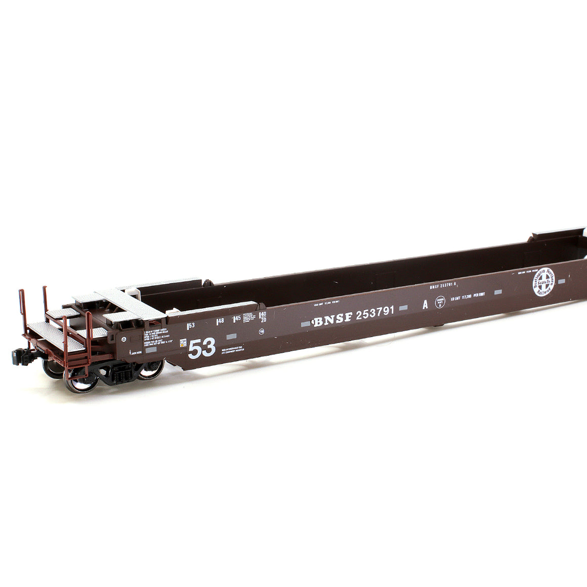 HO Scale: Gunderson Maxi-IV Articulated Well Cars - BNSF - Old Logo