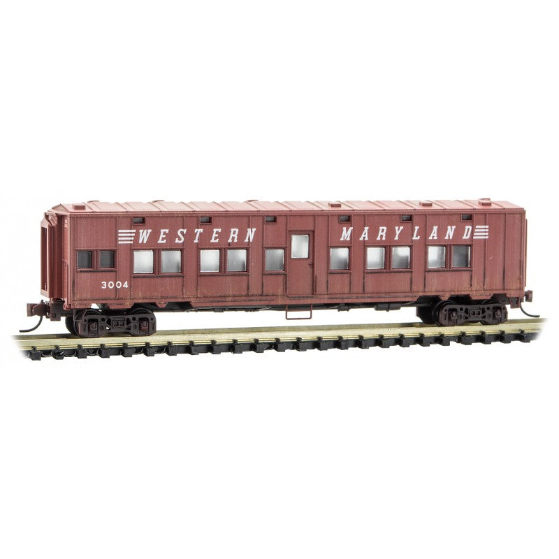 N Scale: Troop Sleeper Car - Western Maryland 'Weathered' - 2 Pack