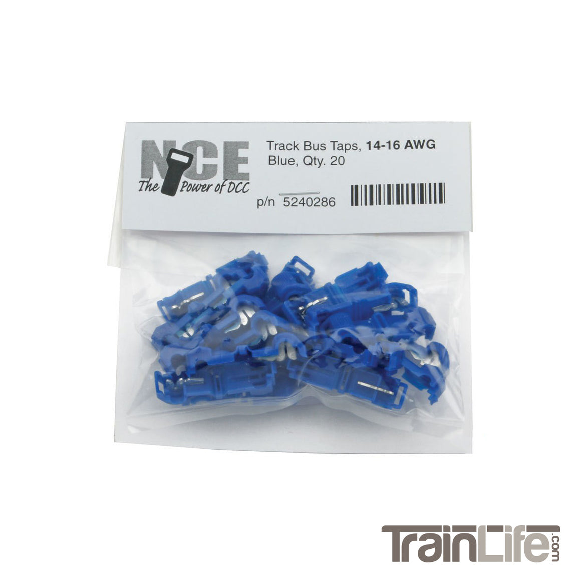 NCE Track Bus Taps - Blue - 20 Pack
