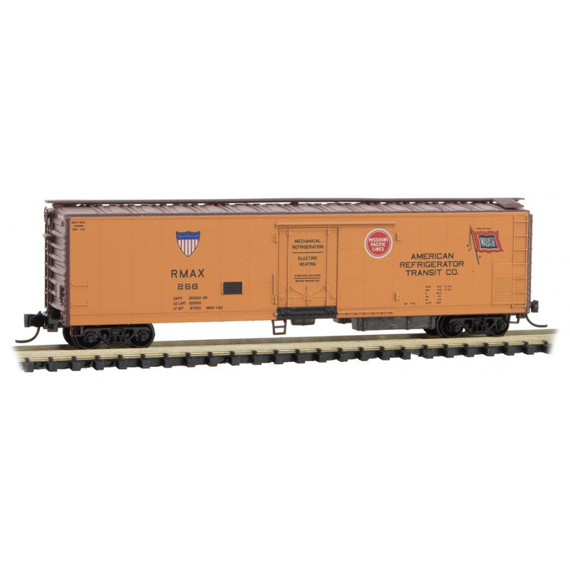 N Scale: 51' Rivet Side Mechanical Reefer - American Refrigerator Transit
