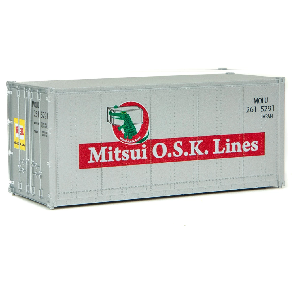 HO Scale: 20' Smooth-side Container - Mitsui O.S.K. Lines
