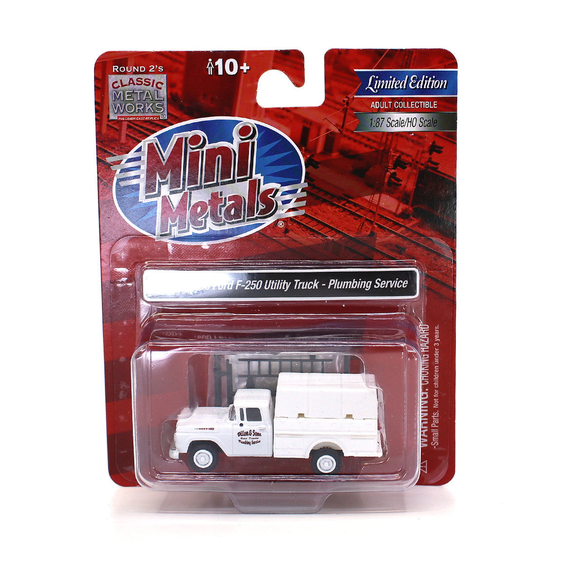 Classic Metal Works HO Scale: 1960 Ford F-250 Utility Truck - Plumbing Service