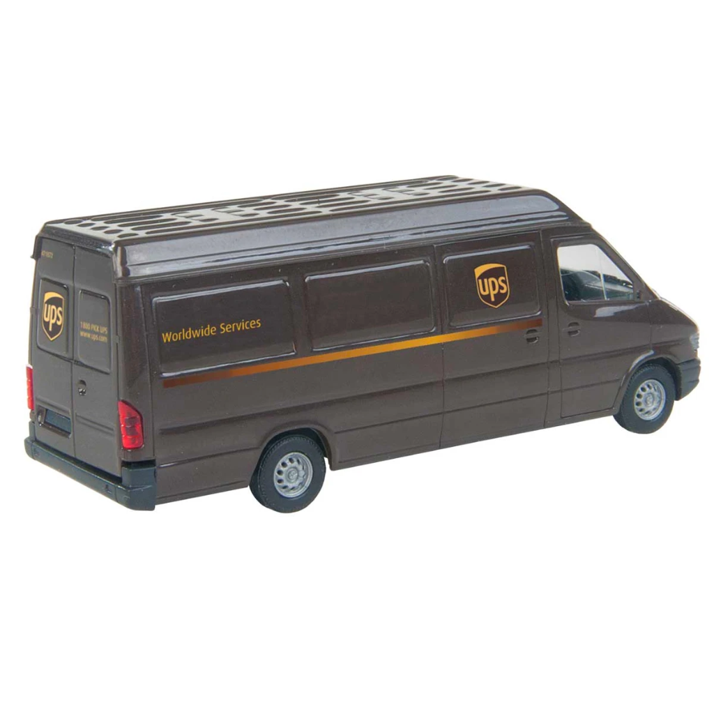 HO Scale: Sprinter Package Delivery Van - UPS - Modern Logo