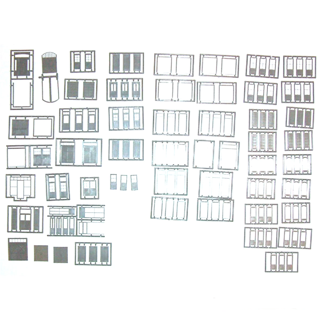 HO Scale: Detail Parts - Door Assortment