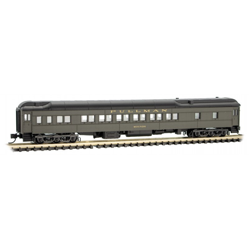 "N Scale: 12-1 Heavyweight Sleeper Car - New York Central ""Mounds"""