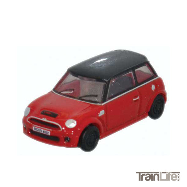 N Scale: Austin Mini 2000s - Chili Red