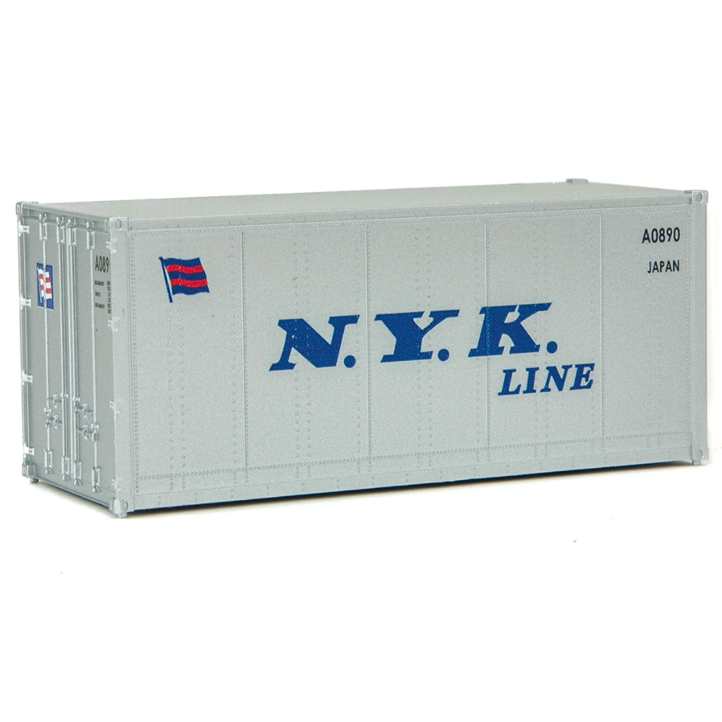 HO Scale: 20' Smooth-side Container - NYK