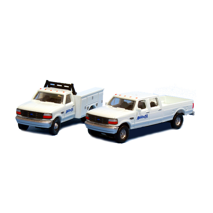 N Scale: 1992 Ford F-350 Service Truck & F-250 Crew Cab Pickup Matched Sets - Santa Fe
