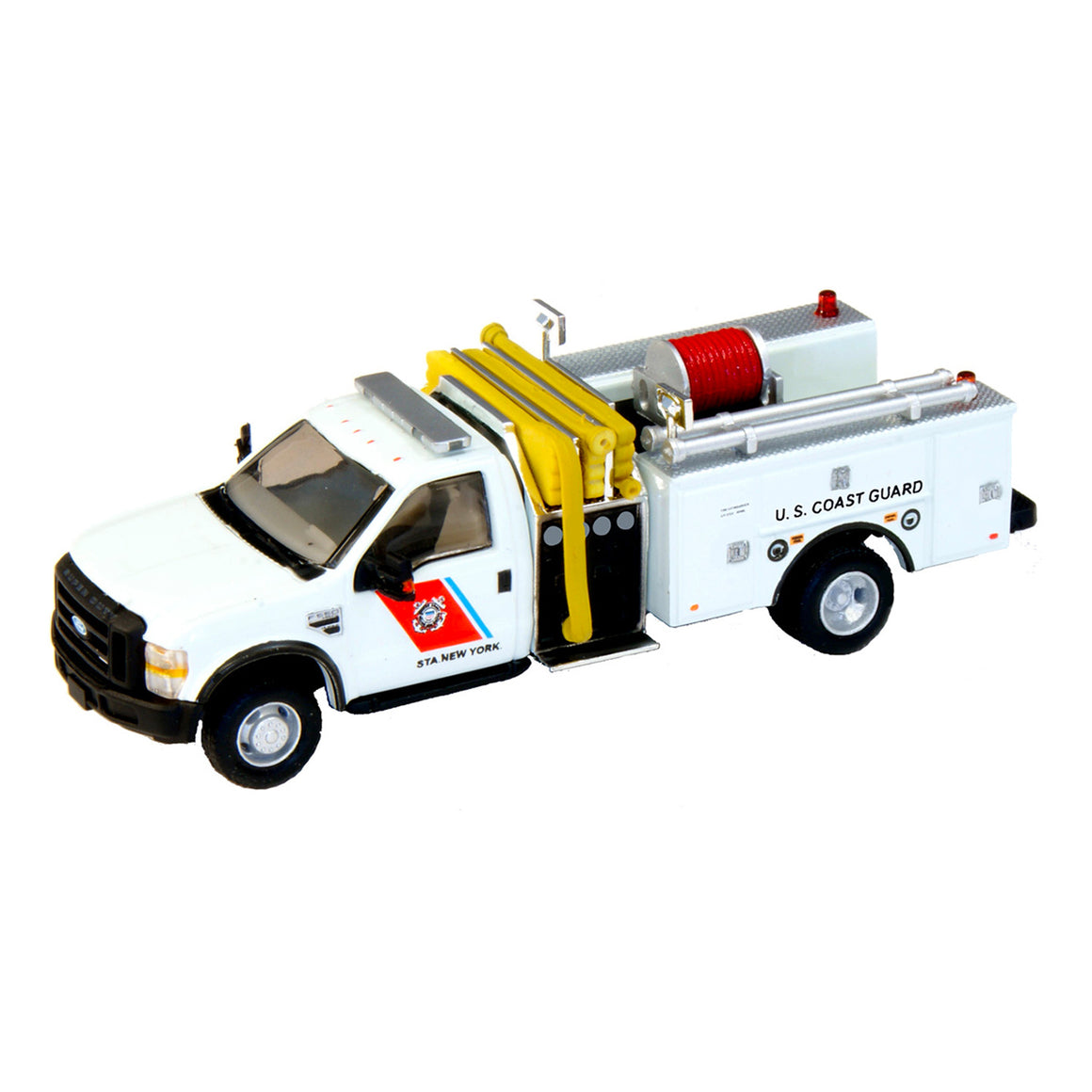 HO Scale: Lighted Ford F-550 - Mini Pumper Fire Truck - U.S. Coast Guard