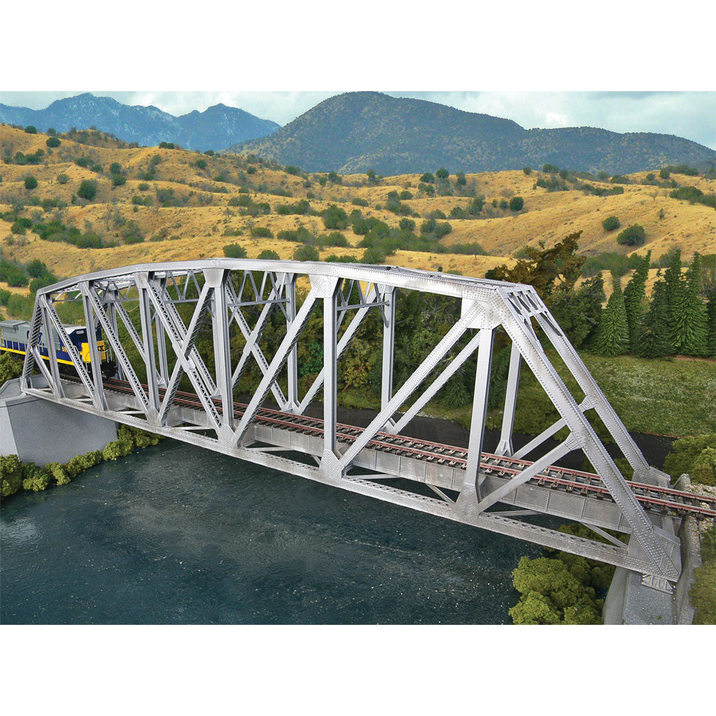 HO Scale: Arched Pratt Truss Railroad Bridge - Single-Track