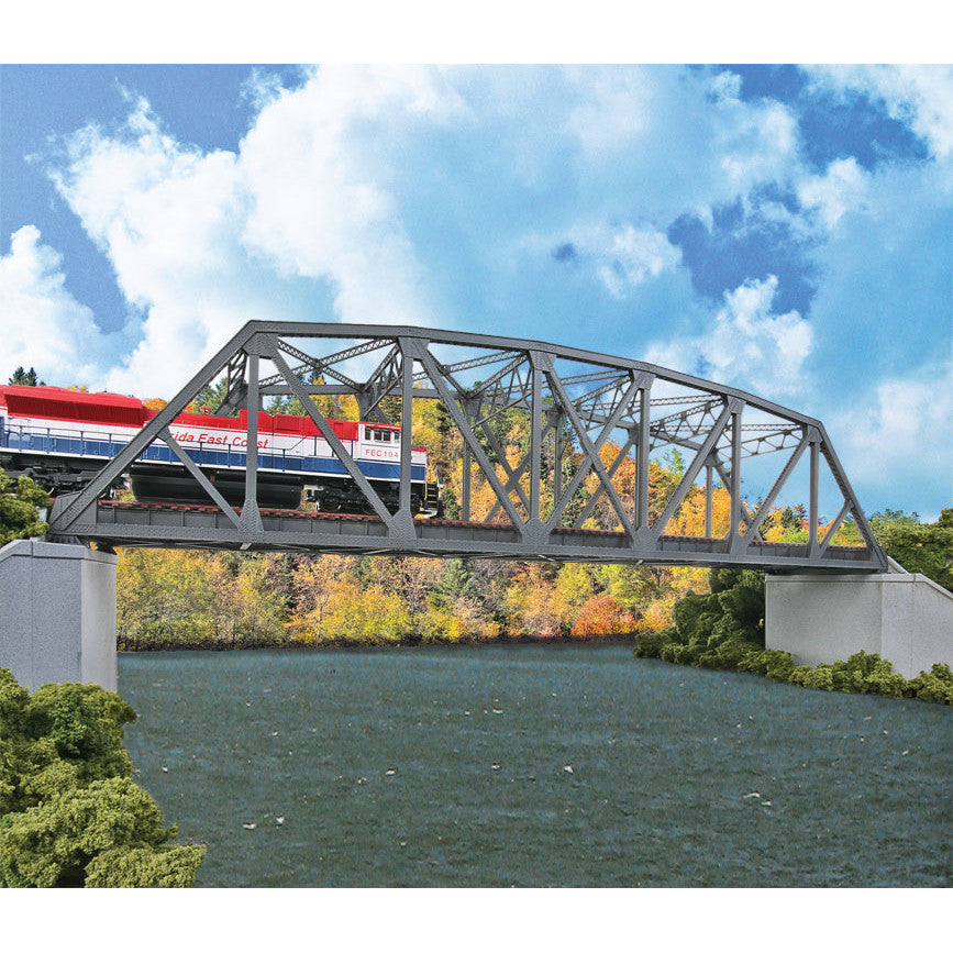 HO Scale: Arched Pratt Truss Railroad Bridge - Double-Track