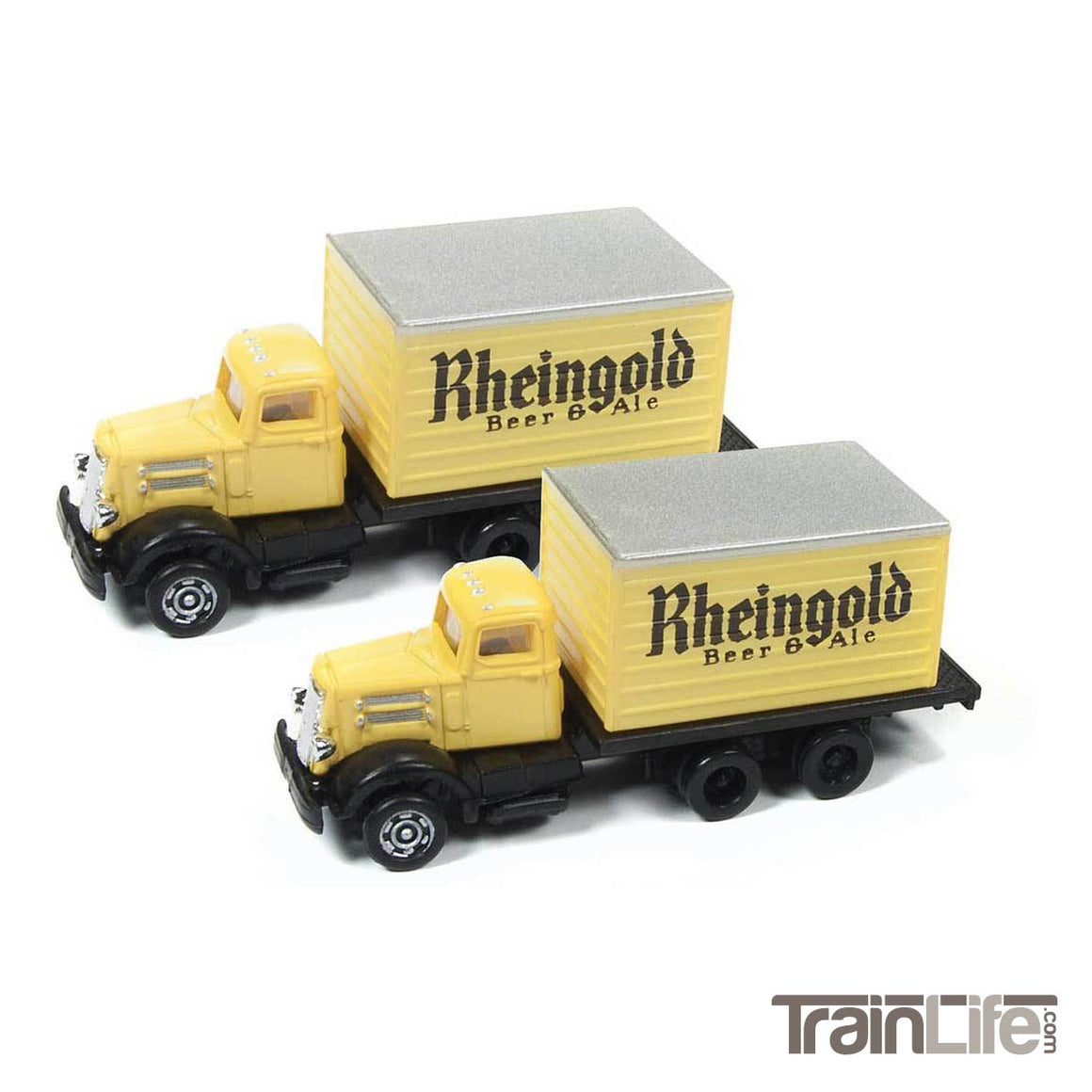 N Scale: WC22 Delivery Box Truck - Rhiengold Beer - 2 Pack