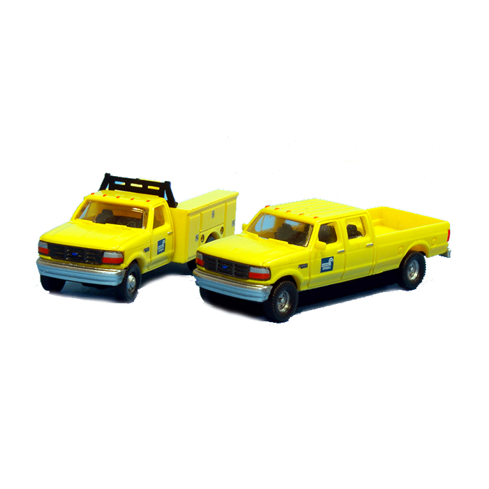 N Scale: 1992 Ford F-350 Service Truck & F-250 Crew Cab Pickup Matched Sets - Conrail