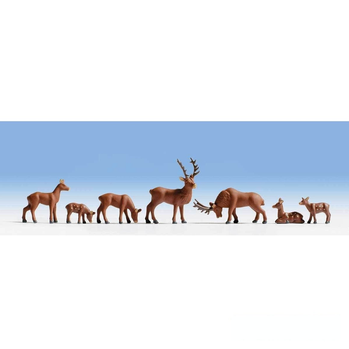 HO Scale: Wild Deer - 8 Pack