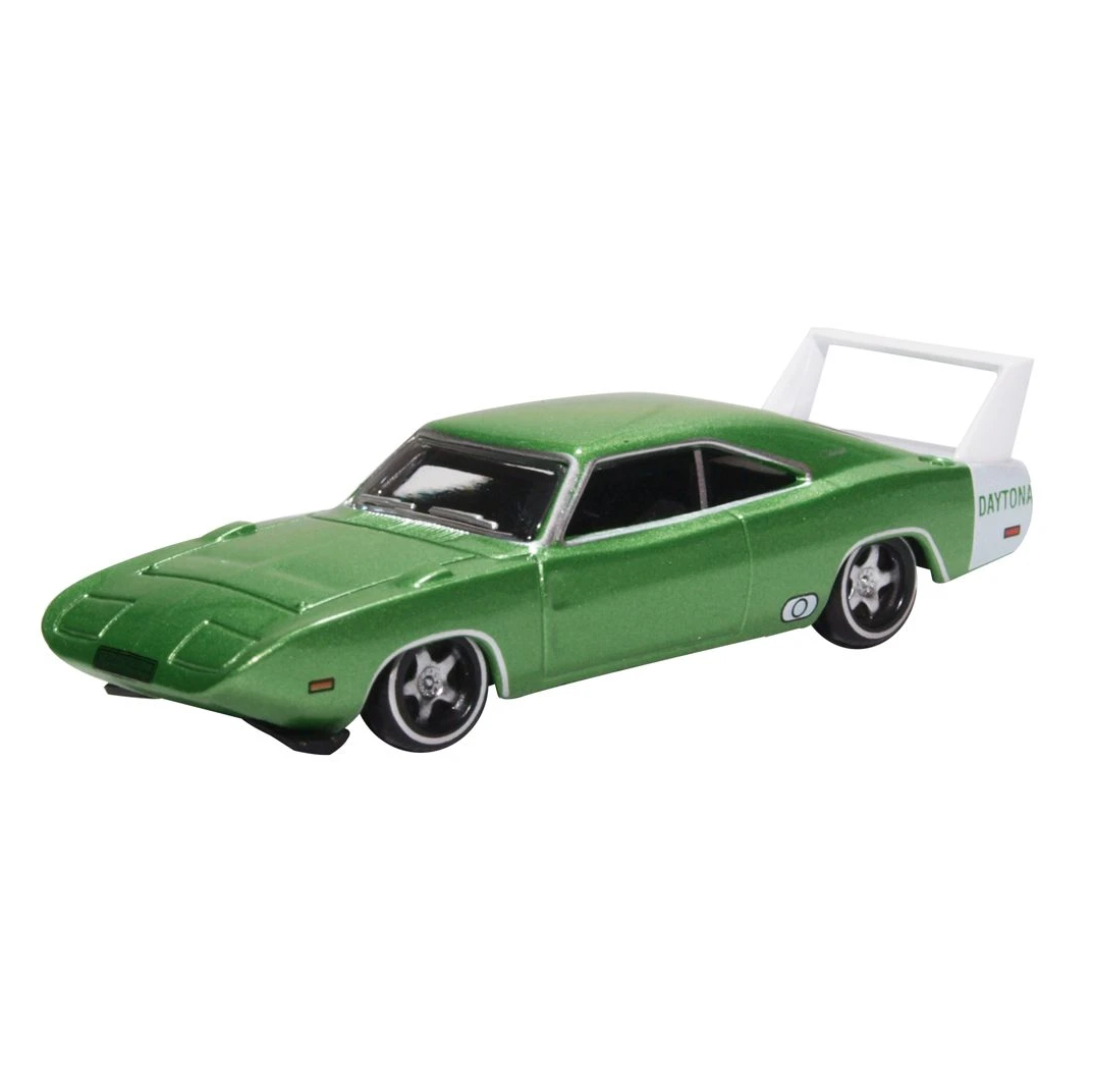 HO Scale: 1969 Dodge Charger Daytona - Bright Green & White