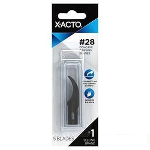 X-ACTO #28 Concave Carving Blade - 5 pack