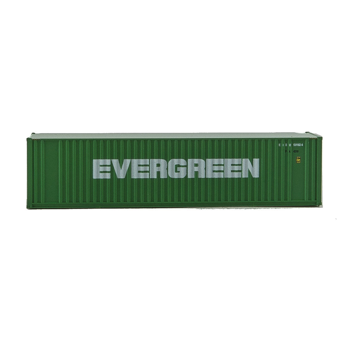 N Scale: 40' Hi Cube Ribbed Side Container - Evergreen