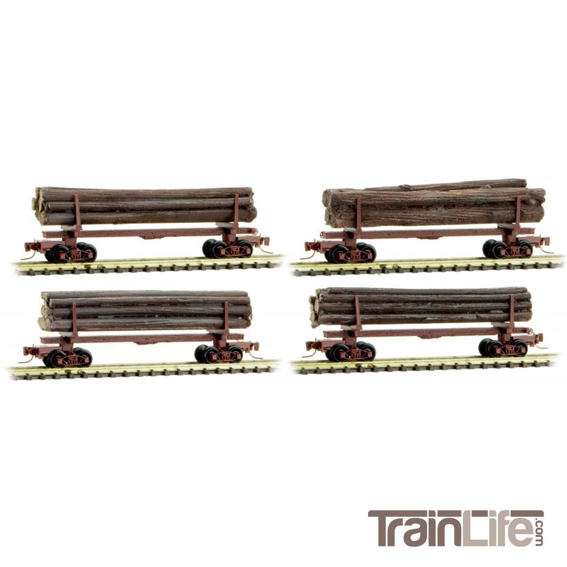 Nn3 Gauge: Skeleton Log Car - 4 Pack
