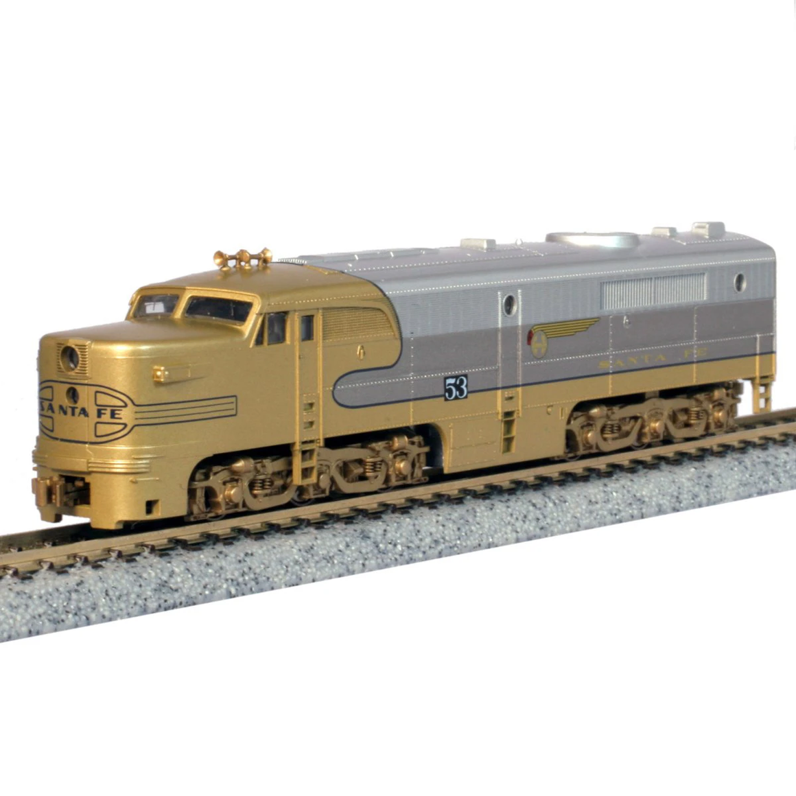 "N Scale: Alco PA-1 A-Unit - DCC & Sound - ATSF ""Goldbonnet"""