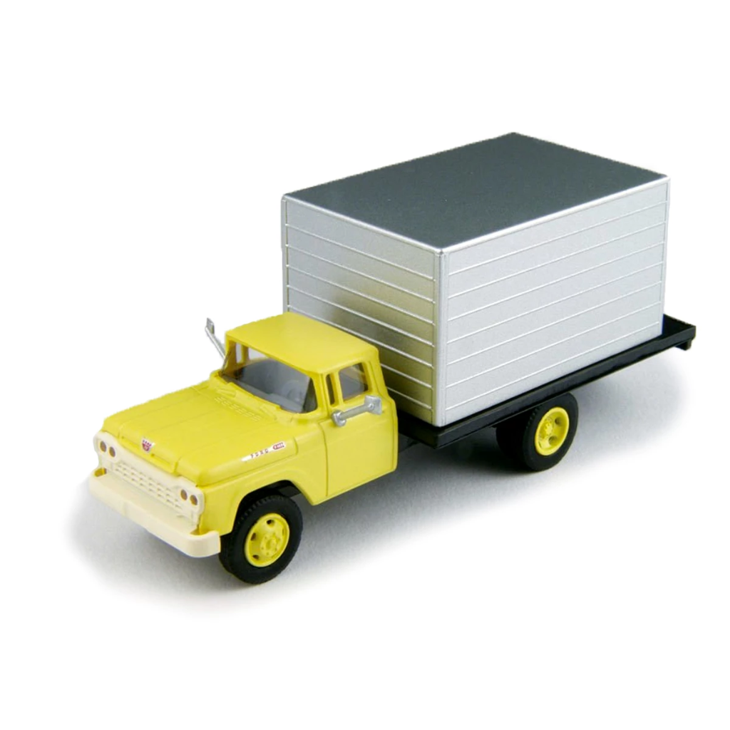 HO Scale: 1960 Ford F-500 Box-Body Delivery Truck - Lemon Yellow