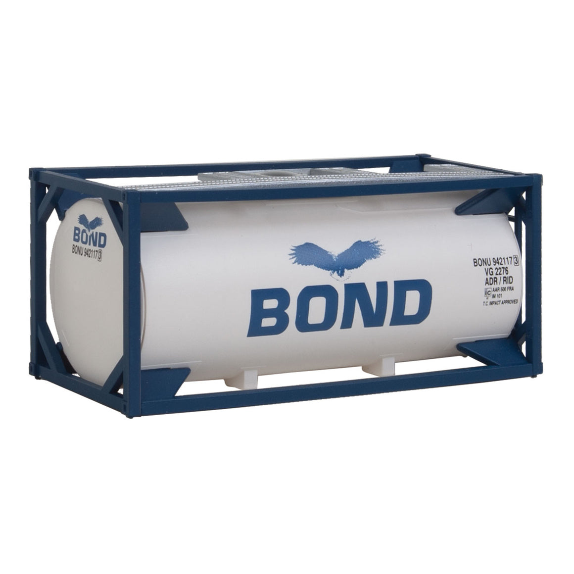 HO Scale: 20' Tank Container - Bond - Kit
