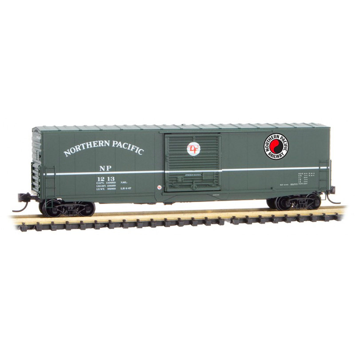 N Scale: 50' Modernized Boxcar - Northern Pacific