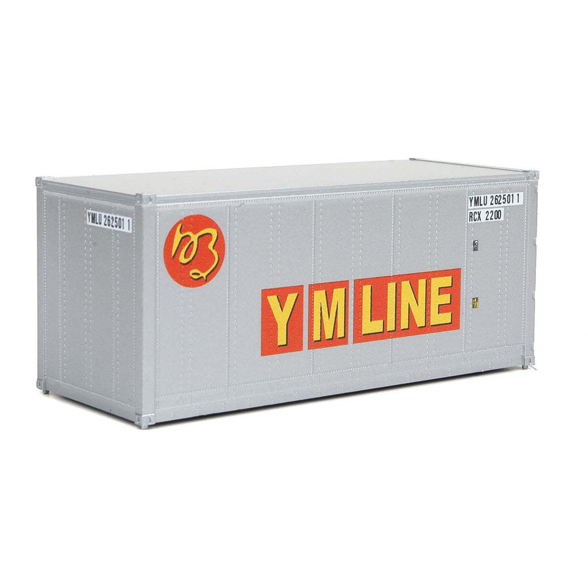 HO Scale: 20' Smooth-side Container - YM Line
