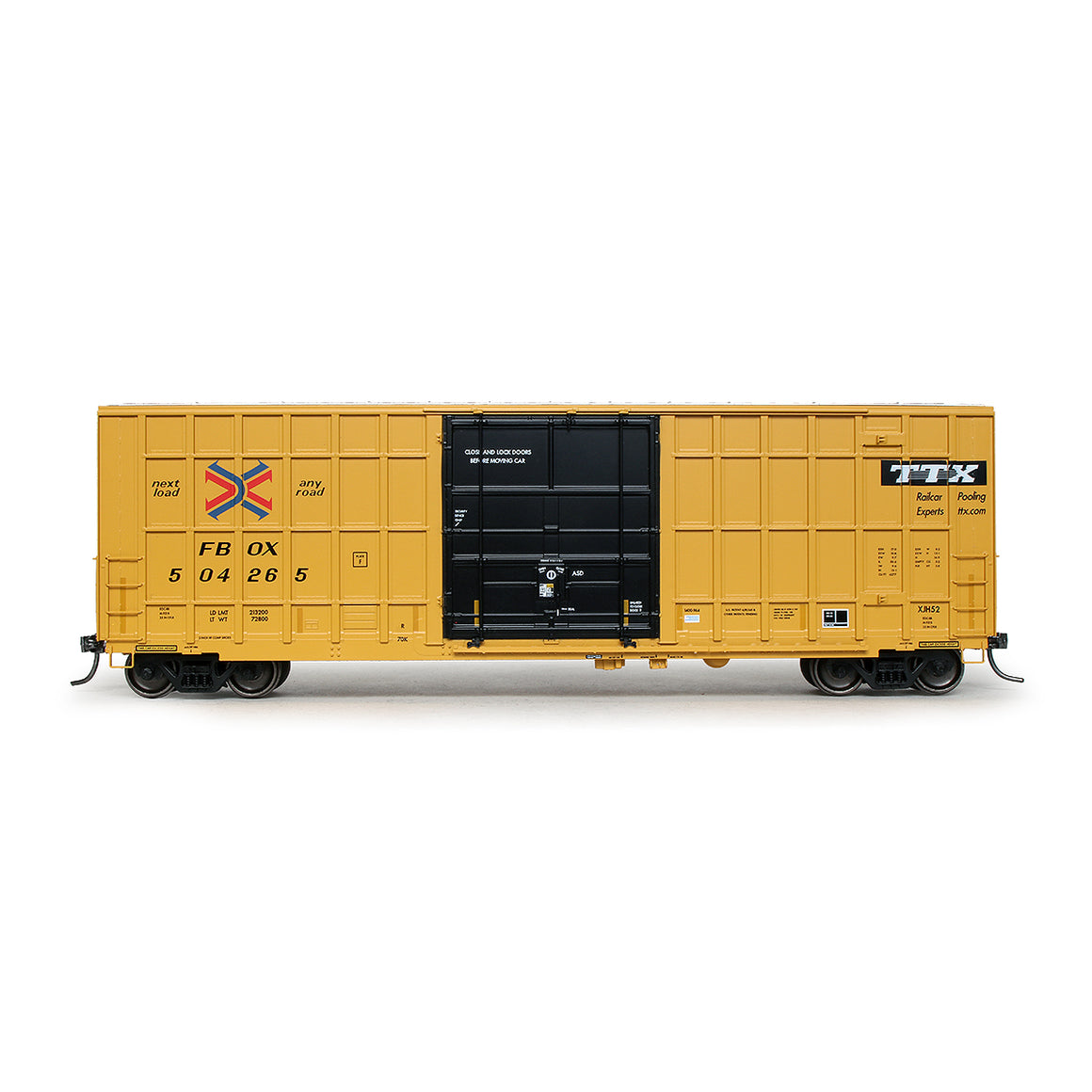 HO Scale: Trinity 6275 Boxcar - TTX/FBOX '2004 As-Delivered'