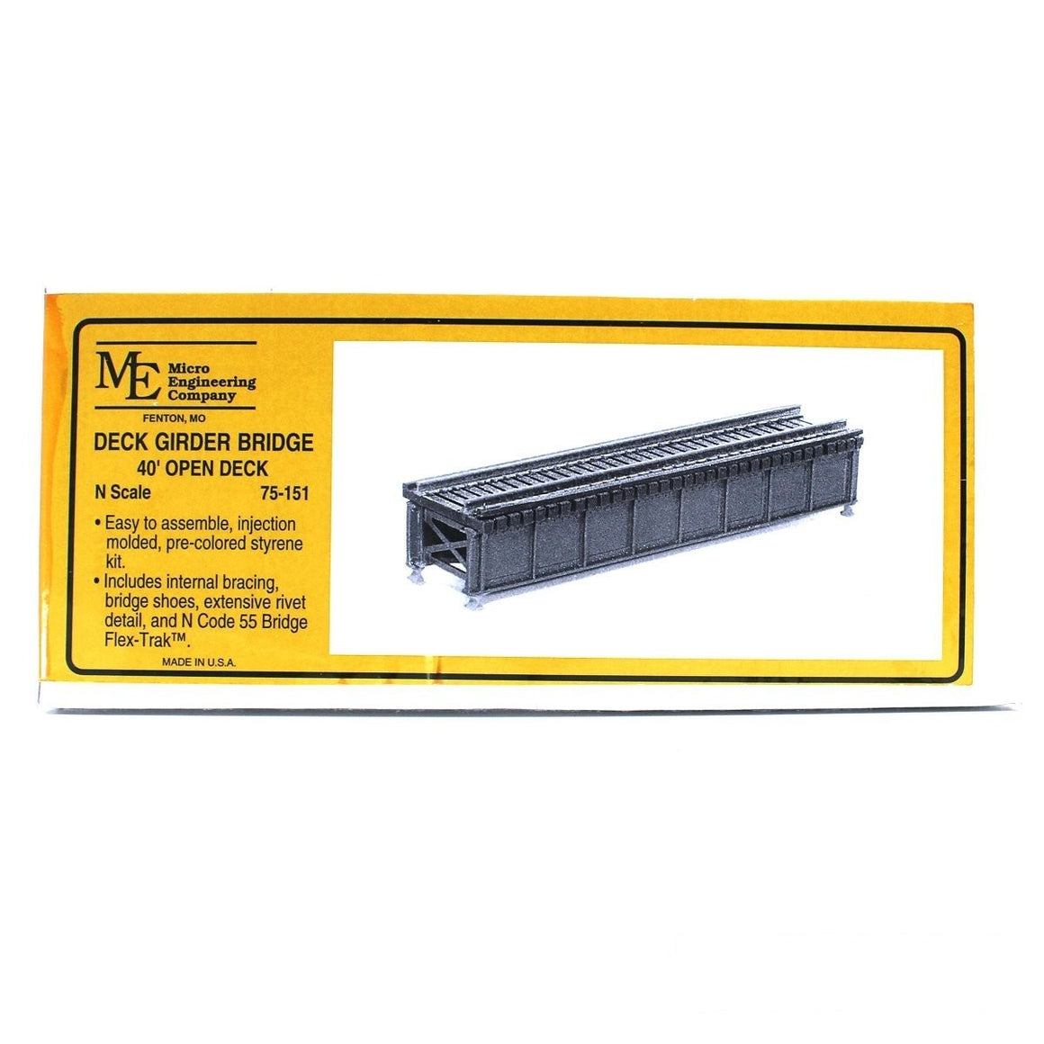 N Scale: Open Deck Girder Bridge - 40-Foot
