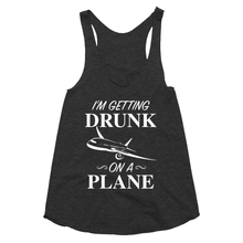 I'm getting drunk on a place Women's racerback tank