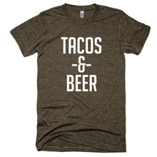 Tacos and Beer Short sleeve soft, vintage style t-shirt