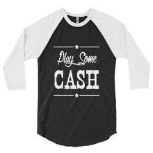 Play some Cash country music, festival 3/4 sleeve raglan shirt
