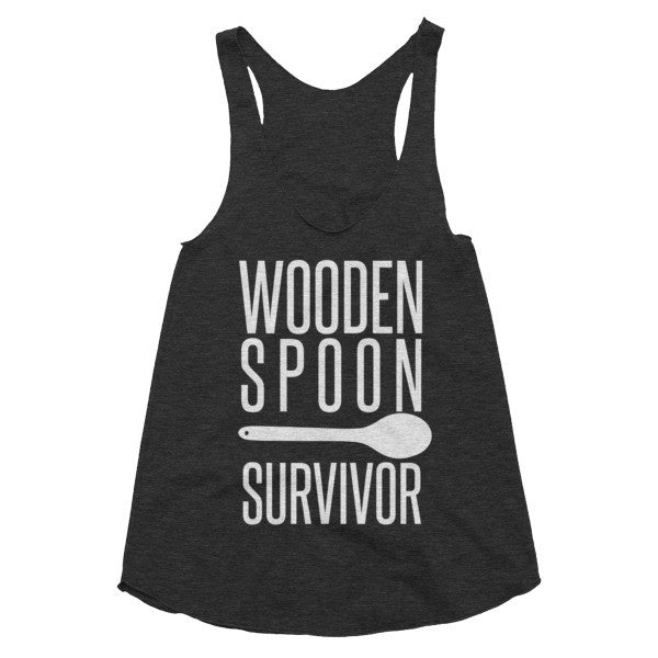 Wooden Spoon Survivor racerback tank