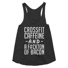 Crossfit Caffeine and a Fuckton of Bacon, Women's racerback tank