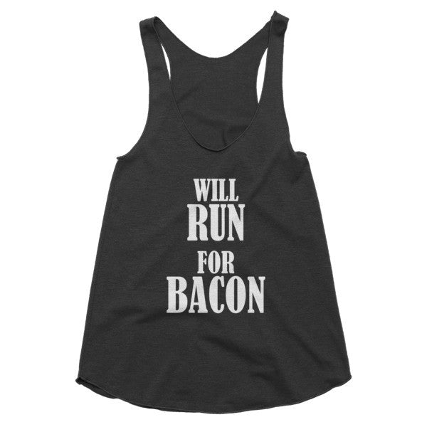Will Run for Bacon workout, gym, racerback tank